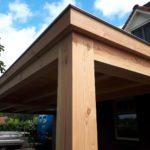 Douglas hout terrasoverkapping woonboerderij Gemonde bouwbedrijf Putmans Schijndel omgeving Den Bosch